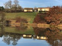 Wonderful lakeside house, the lake is very large Carp fishing business for sale in the Dordogne.
